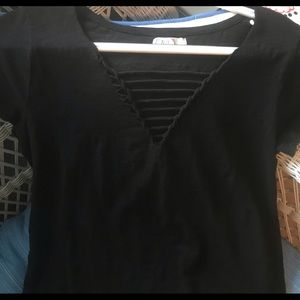 Maurice's black detailed 24/7 shirt